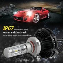 2019 2Pcs 9005 9006 50W 12000LM Lumileds LED Headlight Kit Hi/Lo Beam Bulbs CSP Fog Lamp 6500K White 360° Car LED Headlight