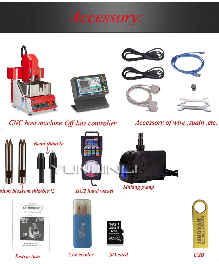 24000rpm 800w CNC Jewelry Engraving Machine 4 Axis Electric Multifuction Jade Wax Silver Jewelry Carving Machine SMART