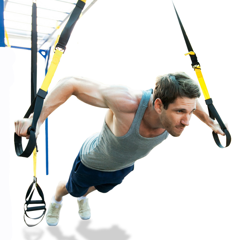 Yoga Fitness Bands Hanging Belt Tension Resistance Bands Pull Rope Home Exerciser Training Strap Fitness Equipment Set For Man leajoy gm 006 5pcs set tension resistance fitness band