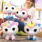 lovely Unicorn plush toy doll 35cm sweet sleep pillow plush animals for children toys for infants smooth obedient rabbit doll