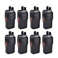 8 pcs baofeng bf-888s walkie talkie 5 w handheld rádio versão de atualização para bf-666s bf-777