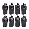 8 unids baofeng bf-888s walkie talkie 5 w radio portátil versión de actualización para bf-777 bf-666s