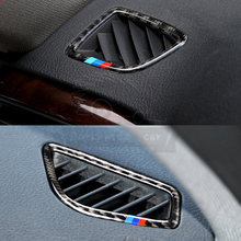 2 Pcs / set Air Intake Outlet Carbon fiber Chrome Car Trim Adhesive Ring Case for BMW 3 4 series 3GT F30 F35 320 320i 325i 328 цена 2017