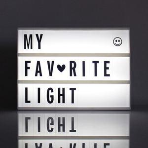 Image 3 - 2020新A4 A5 A6サイズledコンビネーション夜の光ボックスランプdiy黒手紙カードusbポートシネマライト