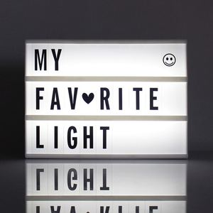 Image 3 - 2020 New A4 A5 A6 Size LED Combination Night Light Box  Lamp DIY BLACK Letters Cards USB PORT Powered Cinema Lightbox