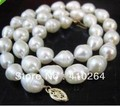 "$wholesale_jewelry_wig$ free shipping REAL 18""inch 8~10mm AA+ AKOYA WHITE baroque PEARL NECKLACE"