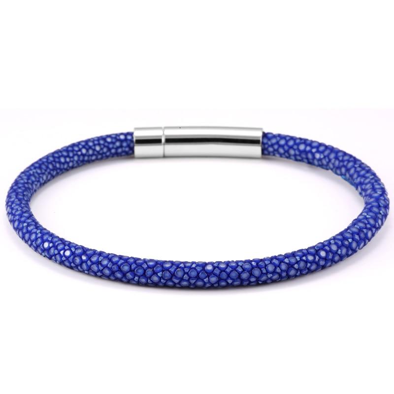 Hot Sale leather Blue Black stingray bracelet Stingray Leather Bracelet For Men Jewelry 2016 Luxury Thailand