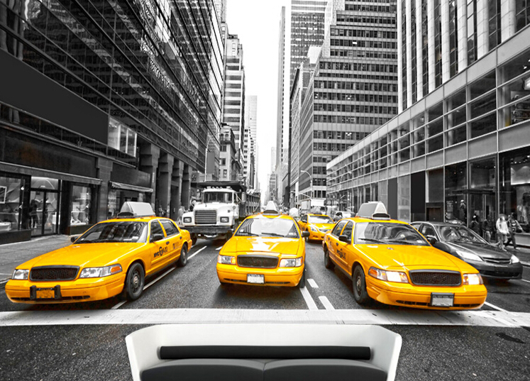 buy beibehang new york yellow taxi large. Black Bedroom Furniture Sets. Home Design Ideas