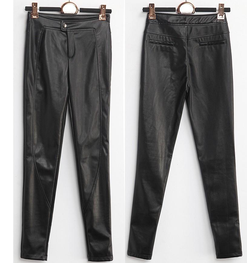 Lihtsad kunstnahast püksid