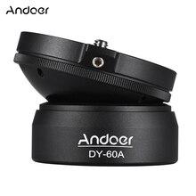 Andoer DY 60A Aluminum Alloy Tripod Leveling Base Panorama Photography Ball Head for Canon Nikon Sony DSLR Cameras