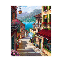 16x20inch Framed City Street Trail Paint By Numbers Home Decor Wall Art Diy Digital Oil Painting