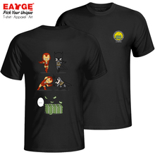 An Impossible Fusion Between Batman And Ironman T Shirt Hip Hop Style Fashion T-shirt Pop Active Punk Unisex Cotton Black Tee