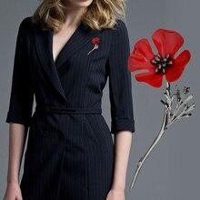 Мода цветок Форма сплав элегантный Poppy Броши Шпильки дамы Костюмы платье украшения Шпильки брошь Jewelry Интимные аксессуары Подарки