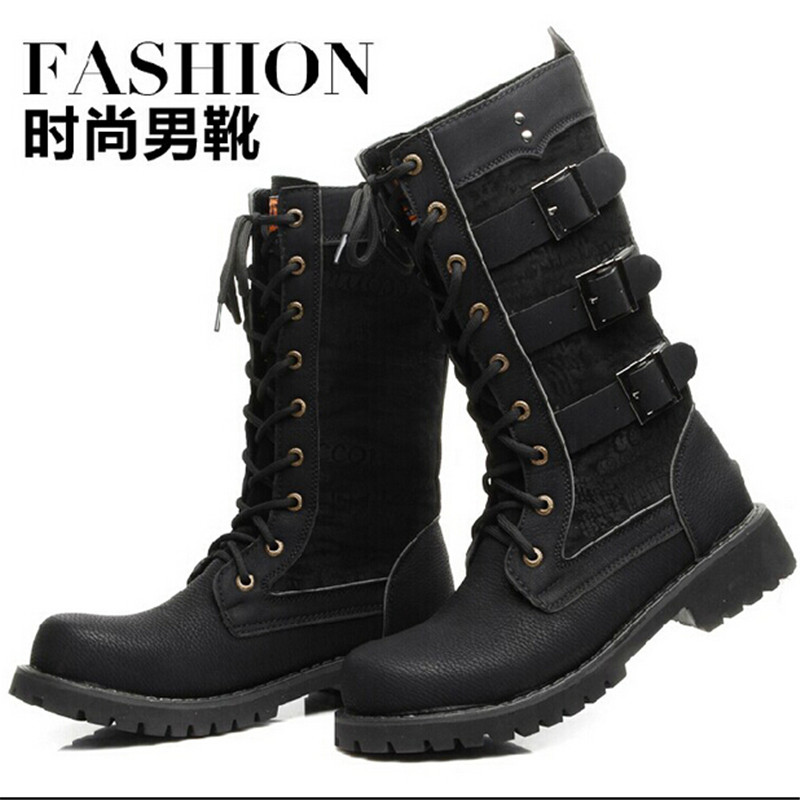 Online Buy Wholesale knee high boots men from China knee high ...