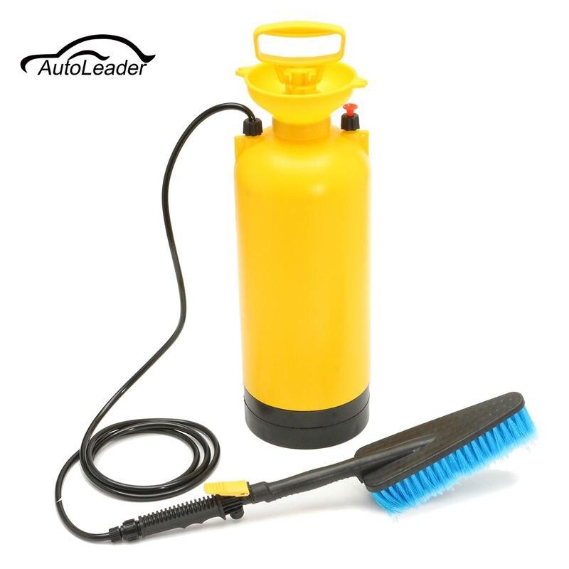 Pratique 8L Portable nettoyeur haute pression pompe de pulvérisation de lavage de voiture brosse tuyau Lance nettoyant outil d'entretien