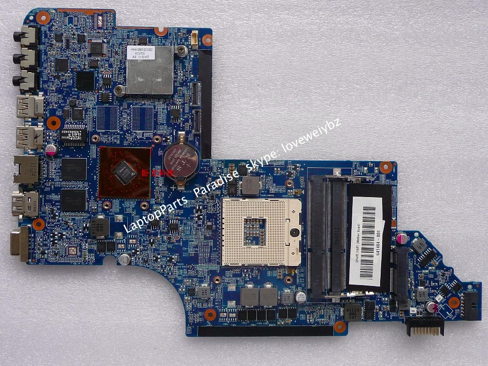 ФОТО 641484-001 Mainboard For HP DV6-6000 DV6T-6000 Laptop Motherboard GPU HD6490 1GB