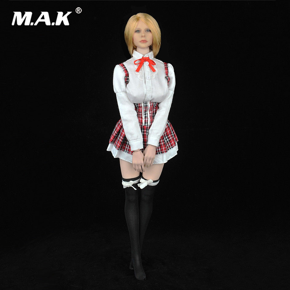 1/6 Scale Female Figure Accessory Long Sleeved Big Bust <font><b>Sexy</b></font> Popping Clothing Set Model for 12'' Action Figure Body image