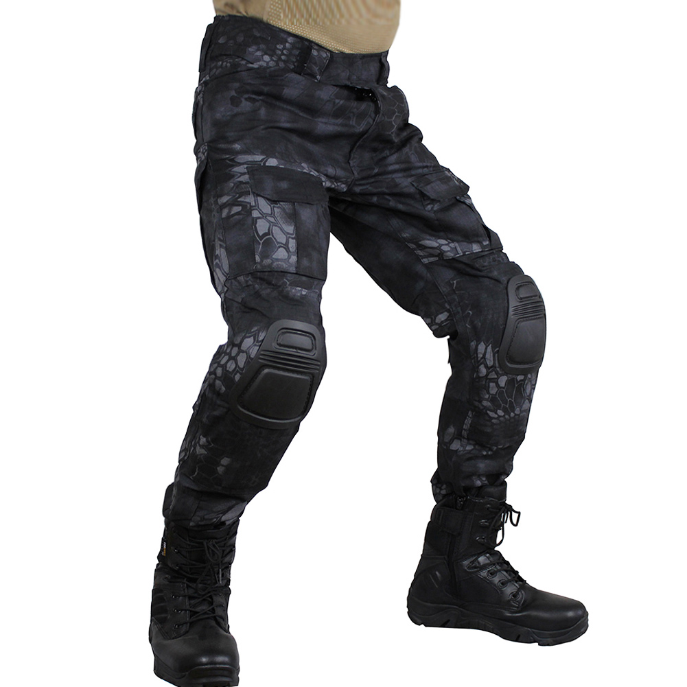 Camouflage Color Tactical Clothing Army Of Combat Uniform Military Pants With Knee Pads Airsoft Paintball Clothing