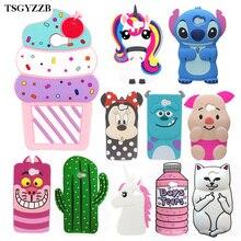 For Huawei Y5 ii Case Silicone 3D Sulley Minnie Stitch Unicorn Cartoon Soft Phone Back Skin Cover Y5II / II 2