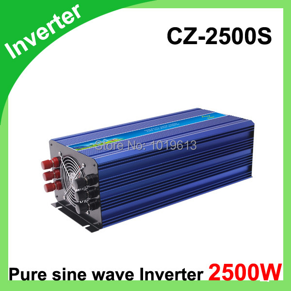 2500W Power Inverter Pure Sine Wave 12V DC to 220V AC Converter Car inverters AC Adapter Power Supply