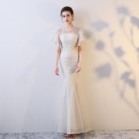 a41daf0bb Doparty Lace Gown Tulle Sexy Mermaid Evening Dress Soiree Elegant 2019  Party Special Occasion Mother Of