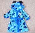 0-2yrs Babys Niños Niñas Infantiles Albornoces Niños Pijamas Warm Capucha Robes Poliester de Dibujos Animados de Invierno de Coral Polar Ropa de Dormir