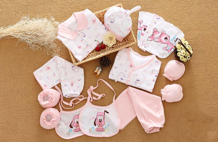 18 Pcs/Set 100% Cotton Newborn Baby Clothing Set Infant Toddler Girls Boys Clothes Set New Born Gifts olat new born baby clothing set 3 pcs coat jacket vest clothes set 100