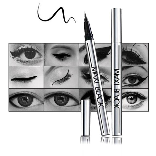 1 pc hot final delineador líquido preto long-lasting waterproof eye liner pencil pen agradável maquiagem ferramentas de cosméticos