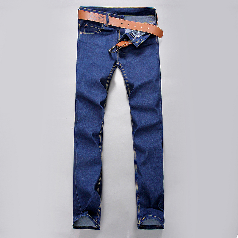 Slim fit The cowboy trousers leisure comfortable Pure color trousers  1