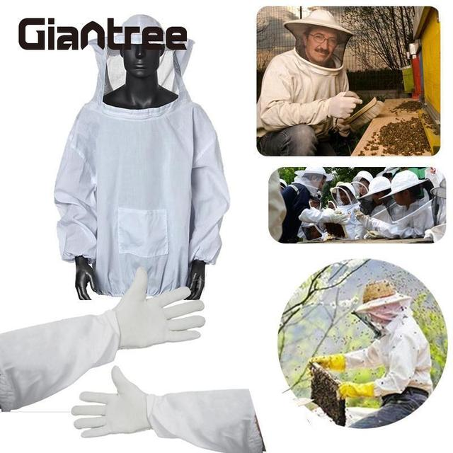 Giantree Protective Beekeeping Gloves Safe Beekeeping Suit Bite Protection Unisex Defend Bee Keeping Gloves Safety Clothing