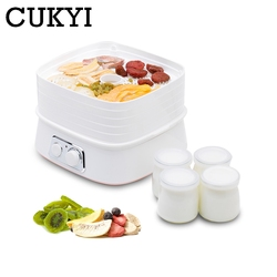 CUKYI Five Layers Dried Food Dehydrator Fruit Vegetable Herb Pet Meat Drying Machine Mini Snacks Air Dryer 5 trays Yogurt Maker