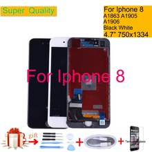 For iphone 8 8G Full LCD Display Touch Screen Digitizer Panel Pantalla monitor For iphone 8 LCD Assembly Complete ORIGINAL Color lcd panel lcd monitor for boif bts 802 902
