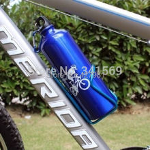 Hot Sale Blue Hiking font b Cycling b font Bike Sports Bicycle cage Aluminum Alloy 750ml