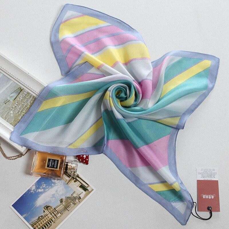 Silk scarf silk squareinto all-match silk scarf multicolour