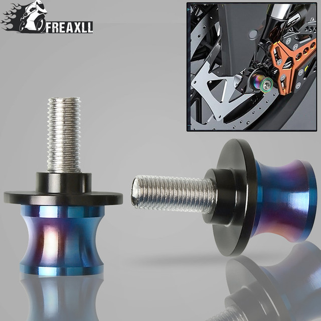 Universal CNC 6/8/10mm motocicleta aluminio basculante carretes deslizantes soportes tornillos para tirumba Daytona 675 velocidad Triple 955 1050