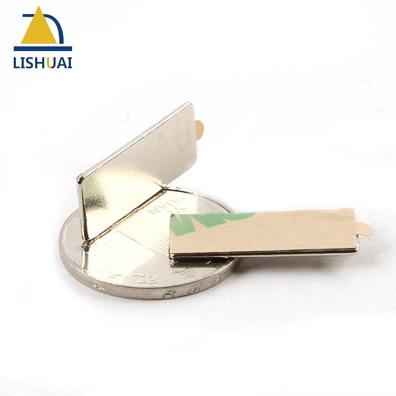 Lishuai Nuovo Prodotto 25*10*1mm Magnete con 3 m Adesivo Forte Cuboid Block Magnete Al Neodimio Rare terra N35 25x10x1mm