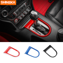 SHINEKA Gears Panel Frame Shift Trims Frame Sticker Interior Moulding Fit  ABS for Ford Mustang 2015+Car Styling Car Accessories недорого