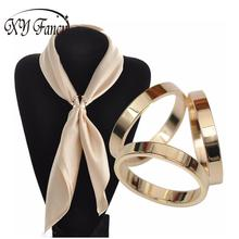 XY Fancy Silk Scarf Jewelry Accessories Buckle Shawl Ring Clip Tricyclic Scarves Buckle Luxurious Simple Women Party Gift ZK30