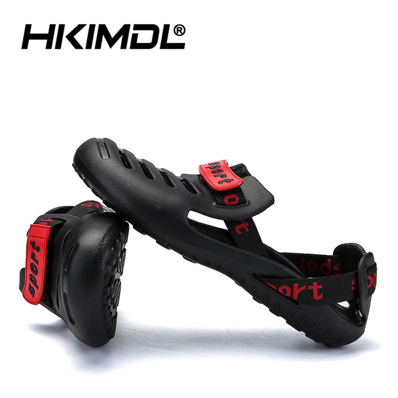 HKIMDL Men's Summer Shoes Sandals 2019 New Breathable Men Slippers Lighted Casual Shoes Outdoor Slip On Comfort Small size