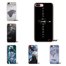 Games of Thrones GOT House Stark For Sony Xperia Z Z1 Z2 Z3 Z5 compact M2 M4 M5 C4 E3 T3 XA Huawei Mate 7 8 Y3II Soft Case Cover(China)