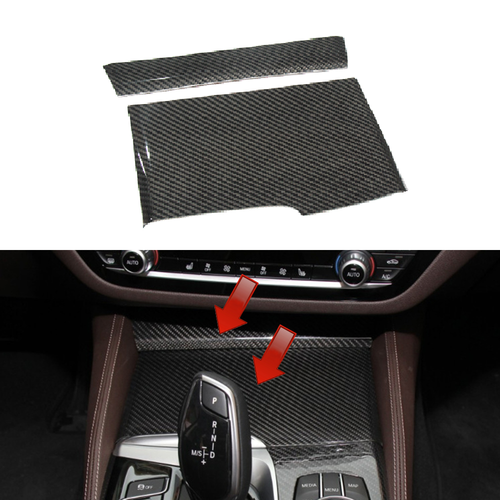 LHD 100% Real Carbon Fiber For BMW 5 Series G30 G38 2017 2018 Car Interior Storage Box Water Cup Holder Ashtray Panel Cover Trim цена
