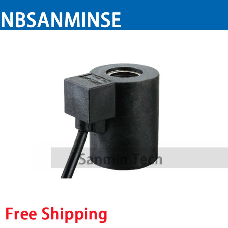 SAN Automobile Valve Coil Electrical Solenoid Valve Coil DC24V Voltage Lead Type Valve Coil Sanmin