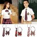 Colorful Stripe Plaid Collar Flower Bow Neck Ties for Children Fashion Boys/Girls Bowties Students School Uniform Neck Tie Set