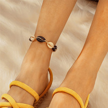 Bohemian Sea Shell Anklet Stone Silver Heart Cowrie Shell Multilayer Bracelet Tassel Metal Gold Anklets For Women Girl Jewelry цена