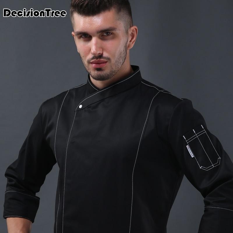 2020 Black White Wholesale Unisex Kitchen Chef Uniforms Short Sleeves Chef Jackets & Aprons Bakery Hotel Food Service
