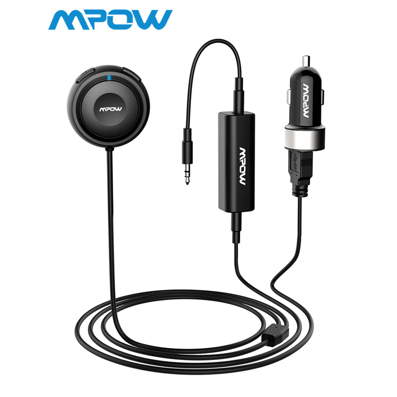 Mpow MBR2 Bluetooth Car Kit Hände-Freies Aufruf Streambot Audio Receiver Wireless Stereo Empfänger Mit Auto Ladegerät Lärm Isolator