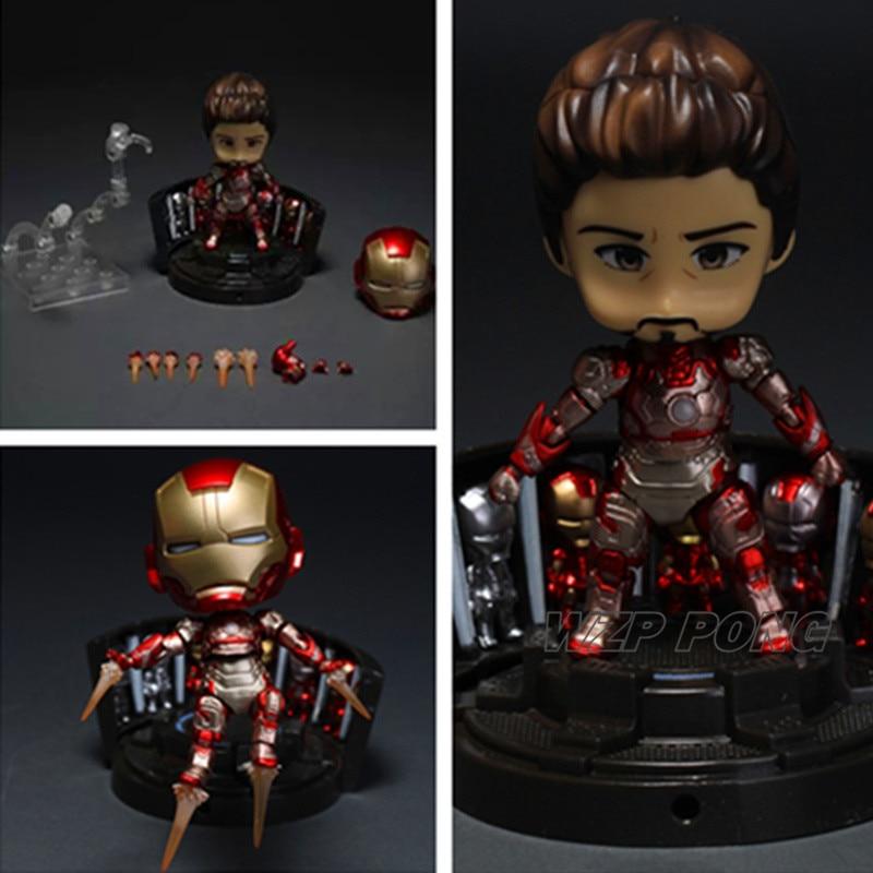 New Avengers Iron Man Hulk Spider Man Captain America figure Métal Modèle Toy Action PVC Figure Collection Jouets Cadeau D'anniversaire