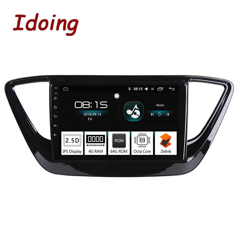 Lecteur multimédia vidéo 4G + 64G d'octa de voiture d'android 8.0 d'ido 9 1Din pour la Navigation de GPS de Hyundai Verna 2016 et le Glonass