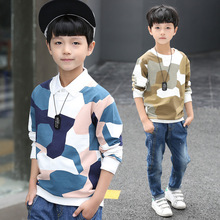 Kids boys spring / autumn camouflage T-shirt 2017 new child boy clothes massive baby long-sleeved T-shirt three/four/5/6/7/eight/9/10/11/12/13