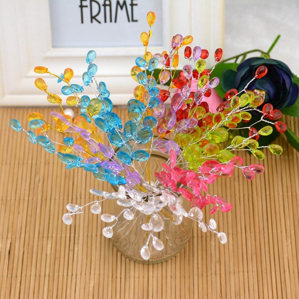 Бесплатная доставка 10 шт. капли воды Искусственный акрил цветок выбирает кристалл со стразами цветок ветви для вечерние вечеринки Свадебные украшения